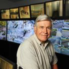 Operation Manager of Great Yarmouth's CCTV cameras, John Pond in the CCTV control room.Picture: Jame