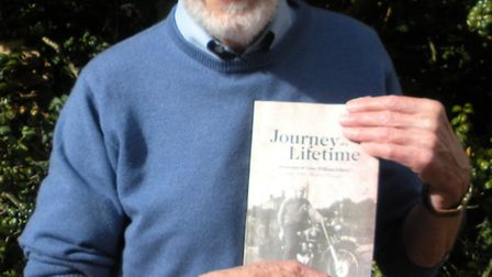 John Elliott of Beccles who has written his biography Journey of a Lifetime