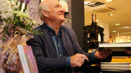 Rick Stein at his booksigning at Jarrolds. Picture: Denise Bradley