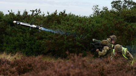 A Paratrooper from 3rd Battalion, the Parachute Regiment, fires the Javelin anti-tank missile during