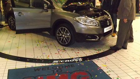 The new Suzuki SX4 S-Cross is unveiled at NMG in Norwich.