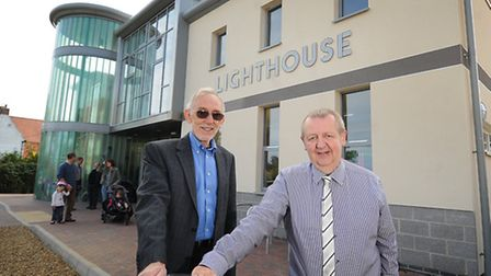 Opening of The Lighthouse Church in Sheringham. Left to right, team manager for Lighthouse Community