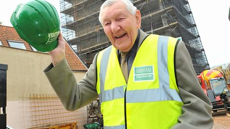 94 year old Harry Walpole, who was the original foreman on the construction of Westlegate Tower in 1