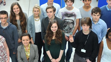 Norfolk students who were awarded Nuffield Research Placements to study science in the real world.Ph