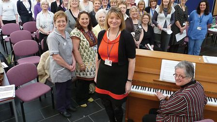 Staff at the Norfolk and Norwich University Hospital have formed a choir.They are pictured with Hila