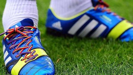 The rainbow laces that will indicate Stonewall's campaign this weekend.