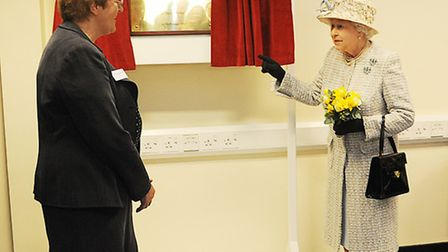 The Queen unveiled a plaque to officially open the MRI Unit at the Queen Elizabeth Hospital in King'
