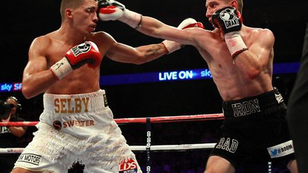 Ryan Walsh (right) in action against Lee Selby.