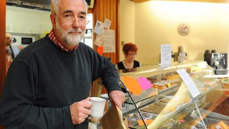 Rev Canon Peter Nokes in the Octagon Coffee Shop at St. Peter Mancroft Church which is closing. Pict