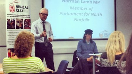Keys to Success event - North Norfolk MP Norman Lamb speaking. Picture: Hannah Carty.