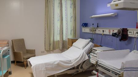 The new look Norfolk and Norwich University Hospital delivery suite.