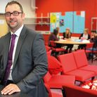 Assistant head Paul Rapley in the new sixth form common room at Taverham high. Photo: Bill Smith