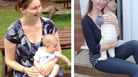 Slimming World consultant Della Mantle before (left) and after her weight loss