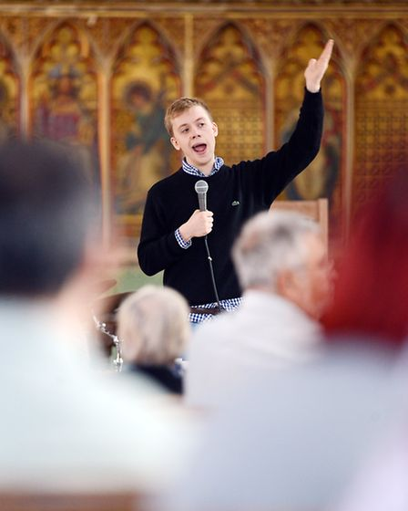 Owen Jones speaks at a rally against cuts to the NHS service. Picture: Matthew Usher.