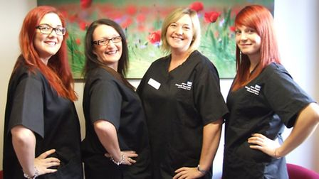 James Paget University Hospital mortuary staff taking part in charity skydive