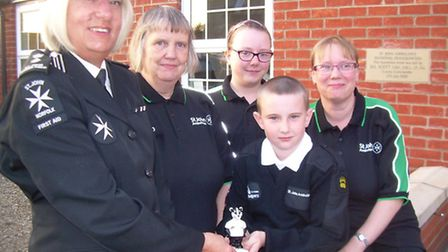 FAMILY SETT: From left: Linda Sweeney, St John Ambulance district youth officer, with three generat