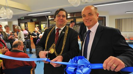 Opening of the refurbished Bowthorpe health centre. Lord Mayor Keith Driver and Dr Nick Morton. Phot