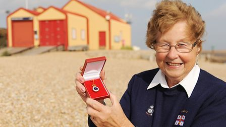 Jean Court who recently stood down as Wells Lifeboat Guild chairman, after 40 years in the post, and