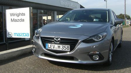 One of Mazda Route3 Hiroshima to Frankfurt Challenger Tour 2013 cars called in at Wrights Mazda in