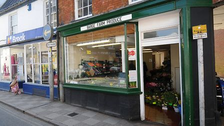 The former greengrocer's shop on North Walsham Market Place which is to open as a pop-up shop tomorr