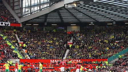 Norwich City fans during the 2012/13 Barclays Premier League match against Manchester United at Old