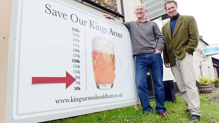 The Save Our King's Arms Appeal reaches the half way point - From left, John McGorty and Phill Harri