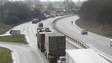 The A47 has reopened following closure to replace power lines