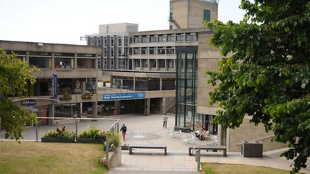 The central square at the UEA. Picture: Denise Bradley