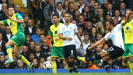 Andros Townsend has a shot on goal. Picture: Paul Chesterton / Focus Images