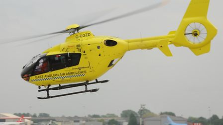 The East Anglian Air Ambulance was called to Little Melton after an injury to a rugby player.