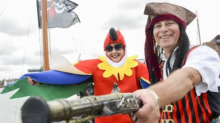 Scenes from Wells Pirate Festival 2013. From left, Lesley Prizeman and Roger Doogan. Picture: Matthe