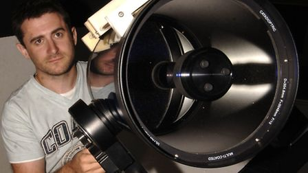 Seething Observatory. Mark Thompson, chairman of the Norwich Astronomical Society. Pictures:SONYA...