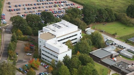 Aerial pic of the Norwich Research Park Innovation Centre. CREDIT: Mike Page For: Jon Welch