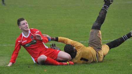 Action from Wisbech vs Long Buckby on Saturday. Picture: Steve Williams.