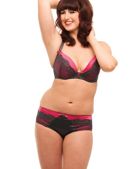 Alice Jackson, originally from Thorpe St Andrew, in a photoshoot for Curvy Kate lingerie competition