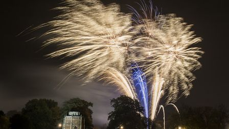 Fawkes in the Walks 2013 - Fireworks over the top of the Red Mount in The Walks. Picture: Matthew Usher.