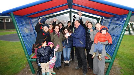 Sheringham Play Park Revamp members at an earlier presentation ceremony when they received a donation from the family of...