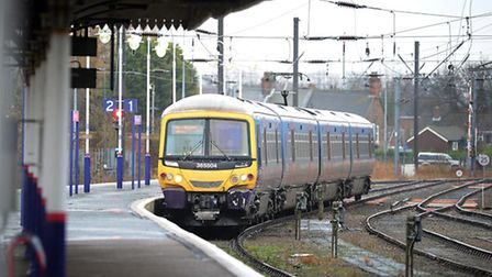 Trains services from King's Lynn have returned to normal after yesterday's storm.. Picture: Matthew Usher.