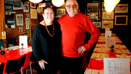 Nick and Margaret Mitchell retiring from Nick's Diner at Deopham after 26 years.