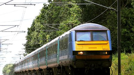 Greater Anglia train on the Norwich to London service run by Abellio. Photo: Bill Smith.