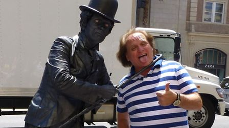 Norwich 'living statue' performer Antony Arnold has landed a big break following an unexpected encounter with Disney...