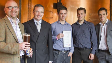From left to right: Richard Carter (Adnams Retail Management Accountant), Greg Luxford (Adapt Low Carbon Group Deputy...