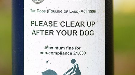 A warning to dog owners about clearing up dog mess in St George's Park. Issued by Great Yarmouth Borough...