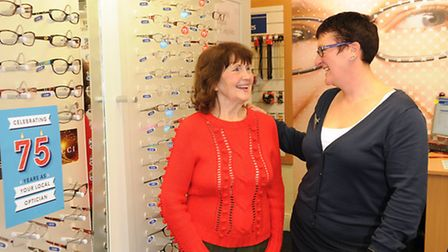 Rosemary Brame, 81, from North Walsham had her eye sight saved after Marie Sanders from Lord's Opticians quickly referred...