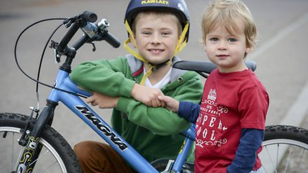 Nine year old Charlie Page from Fakenham is doing a 12.6 mile sponsored bike ride to raise money for the QEH East Rudham...