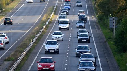 Traffic using the A47 Norwich southern bypass. Photo: Bill Smith