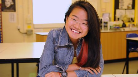 Student at the City of Norwich School, Sabrina Tan, 17, one of 100 nationally nominated for the UBS Award for Outstanding...
