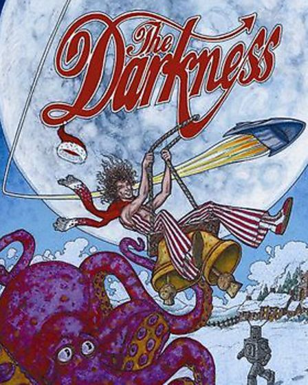 The original picture sleeve for The Darkness's single Christmas Time which reached the number 2 spot