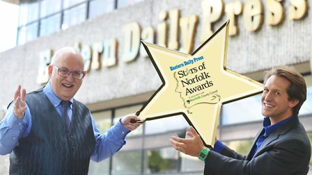 Nigel Pickover and David Whiteley launch the Stars of Norfolk.Photo: Bill Smith