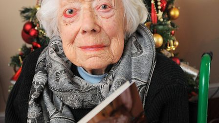 Pat Oram who is celebrating her 105th birthday at Mill House Nursing Home in Horstead. Picture: James Bass Copy...